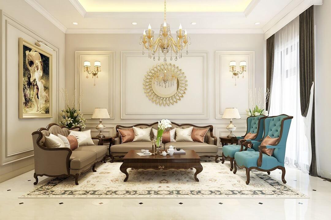 Bộ bàn ghế sofa tân cổ điển đẹp, sang